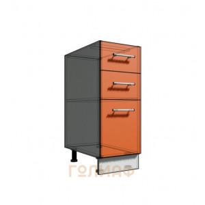 Нижний шкаф 30 рабочий 3 ящика (500)