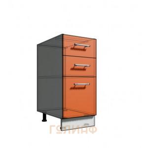 Нижний шкаф 35 рабочий 3 ящика (500)