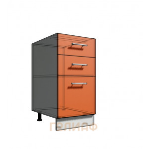 Нижний шкаф 40 рабочий 3 ящика (500)