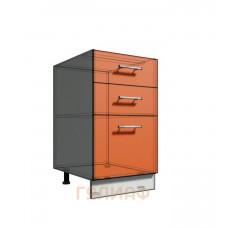 Нижний шкаф 45 рабочий 3 ящика (500)
