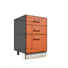 Нижний шкаф 50 рабочий 3 ящика (500)