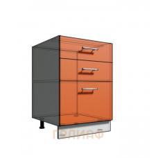 Нижний шкаф 55 рабочий 3 ящика (500)