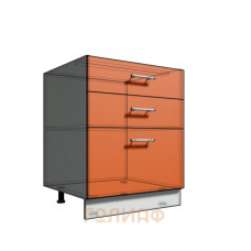 Нижний шкаф 65 рабочий 3 ящика (500)