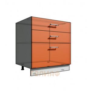 Нижний шкаф 70 рабочий 3 ящика (500)