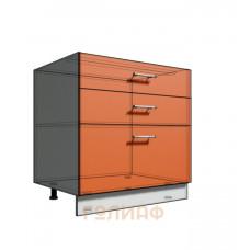 Нижний шкаф 80 рабочий 3 ящика (500)