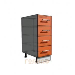 Нижний шкаф 30 рабочий 4 ящика (500)