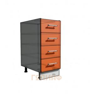 Нижний шкаф 35 рабочий 4 ящика (500)