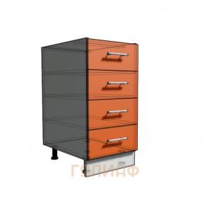 Нижний шкаф 40 рабочий 4 ящика (500)