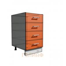 Нижний шкаф 45 рабочий 4 ящика (500)