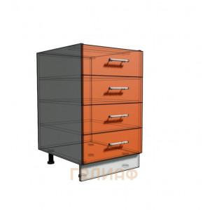 Нижний шкаф 50 рабочий 4 ящика (500)