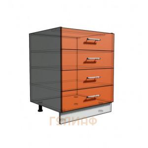 Нижний шкаф 65 рабочий 4 ящика (500)