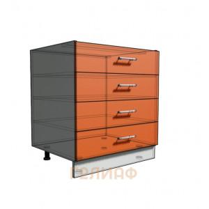 Нижний шкаф 75 рабочий 4 ящика (500)