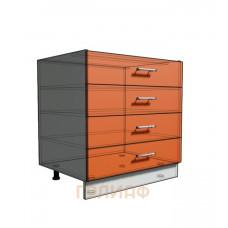 Нижний шкаф 80 рабочий 4 ящика (500)
