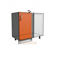 Нижний шкаф угловой проходного типа 850 (900) фасад 30М (500)