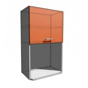 Верхний навесной шкаф 55 см с открытой полкой СВЧ (920)