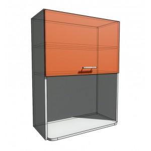 Верхний навесной шкаф 70 см с открытой полкой СВЧ (920)
