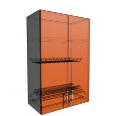 Верхний навесной шкаф 60 см 2Д под сушилку (920)