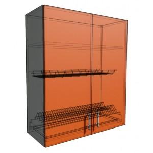 Верхний навесной шкаф 80 см 2Д под сушилку (920)