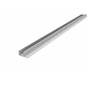 Планка МЩ угловая (F образная) 4мм, хром