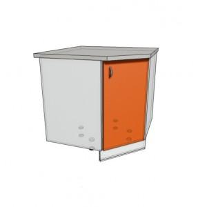 Нижний угловой шкаф Трапеция 900 (850*850) (500)