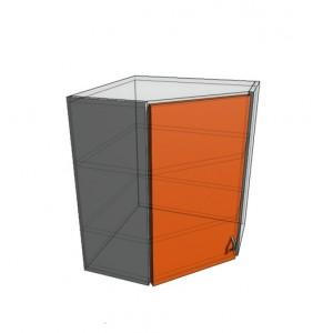 Верхний навесной шкаф в угол 60 (600*600) (920)