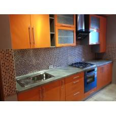 Кухня глянцевая Оранжевая 3,15 метра