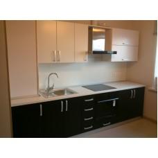 Кухня матовая Белый + Черный 2,5 метра