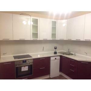 Кухня глянец Белый + Личи 2,6х1,7 метра