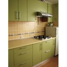 Кухня матовая Светло-зеленый 1,95 метра