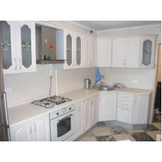 Кухня матовая белая 3х1,5 метра