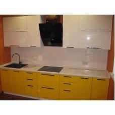 Кухня глянцевая Белый + Лонган  2,6 метра