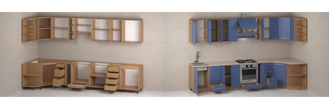 Кухонные модули. Более 300 вариантов
