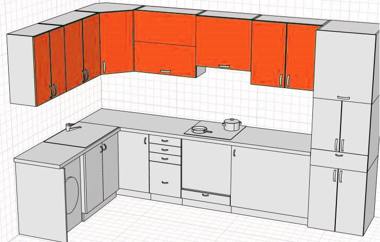 Верхние кухонные модули